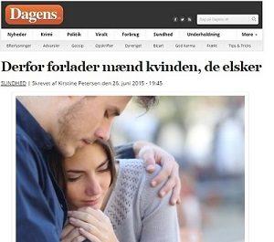 """Dagens.dk: """"Derfor forlader mænd kvinden de elsker"""""""