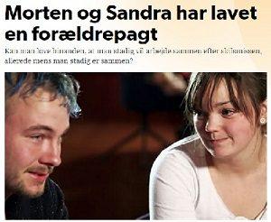 Morten og Sandra har lavet en forældrepagt